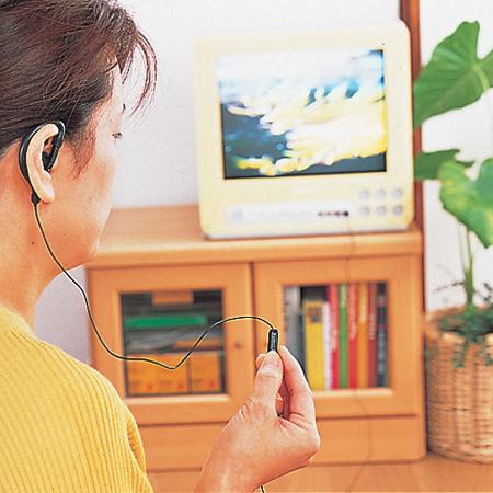 スマイルキッズ商品 ボリューム付耳かけ式テレビ5mイヤホン