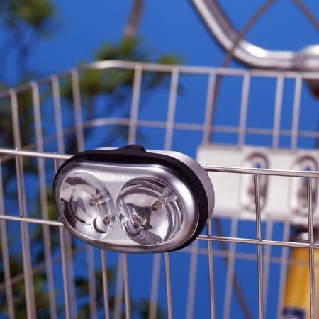 スマイルキッズ商品 自動点灯サイクルライト(カゴとりつけタイプ)