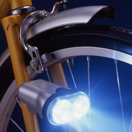 スマイルキッズ商品 自動点灯サイクルライト(ハンドル・ダイナモ部取付タイプ)