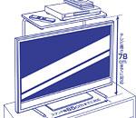 スマイルキッズ商品 高さ調整付液晶テレビ上のせラック ATU-21
