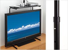 スマイルキッズ■高さ調整付液晶テレビ上のせラック(ATU-21)